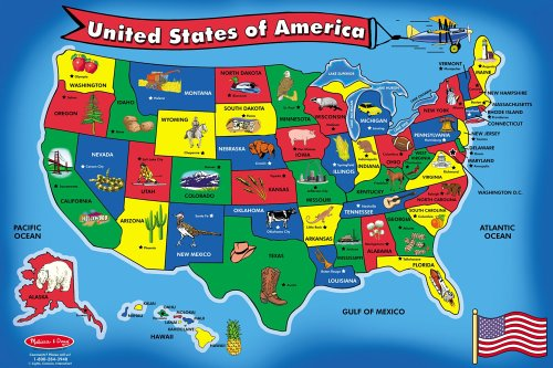 Amazoncom Kids Puzzle Of The USA Piece Toys Games Mapping - Us natural resources map for kids